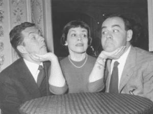 Franca Valeri con Vittorio Caprioli e Luciano Salce nel Teatro dei Gobbi – Fonte: Ass. Cinematografica La Dolce Vita