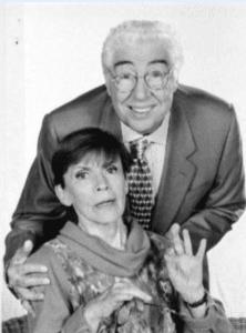 Franca Valeri con il collega e amico Gino Bramieri – Foto: ANSA